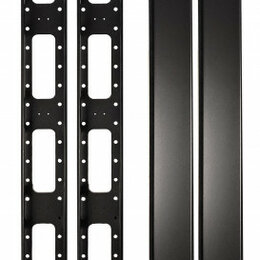 Органайзеры и кофры - Органайзер кабельный вертикальный 42U SIT-VORG-42 с крышкой (металл) для шкаф..., 0