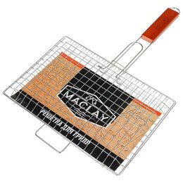 Решетки - Решетка гриль для мяса и овощей 30 х 22 х 3 см Premium, средняя, 0