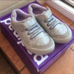 Кроссовки и кеды - Кроссовки Pediped, 27 размер, серебряные, блеск детские нарядные, 0