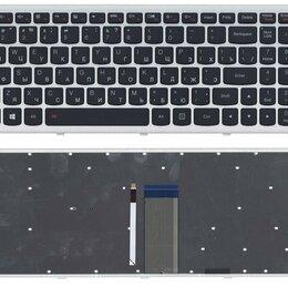Клавиатуры - Клавиатура для Lenovo IdeaPad U510 Z710 черная с серебристой рамкой и подсветкой, 0
