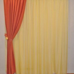 Шторы - Новая Вуаль и штора с декоративным подхватом, 0