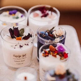 Декоративные свечи - Ароматические свечи из кокосового воска , 0