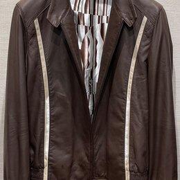 Куртки - Zilli кожаная куртка оригинал размер 50, 0