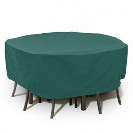 Аксессуары для садовой мебели - Чехол на набор садовой мебели (круглый) ПЭ 200х75см Blumen Haus, 0