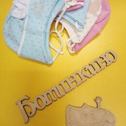 Головные уборы - Маленьким девочкам шапочки с завязками, 0