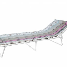 Походная мебель - Раскладушка с вшитым матрацем (h=4см) Соня-4, до 80кг, 190*70*26см, бязь/синт..., 0