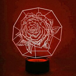 """Ночники и декоративные светильники - Ночник """"Роза"""" 24,5*19,5 см., 0"""