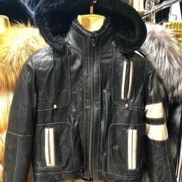Куртки и пуховики - Детская куртка из натуральной кожи на меху , 0