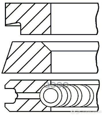 Кольца Двс Поршневые (К-Т На 1 Поршень) по цене 2012₽ - Двигатель и комплектующие, фото 0