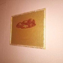 """Картины, постеры, гобелены, панно - Картина"""" Красные яблоки в золотой вазе"""", 0"""