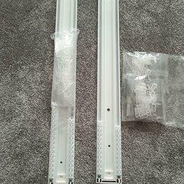 Карнизы и аксессуары для штор - Карниз трековый двурядный потолочный алюминиевый, 0