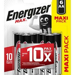 Батарейки - Элемент питания алкалиновый MAX LR6/316 BL6 (блист.6шт) Energizer E30153..., 0