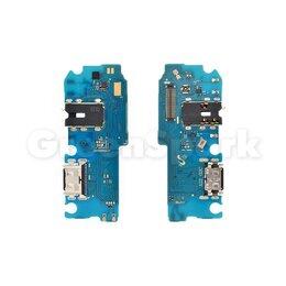 Прочие запасные части - Шлейф (плата) для Samsung A125F Galaxy A12 + разъем зарядки + разъем гарнитур..., 0