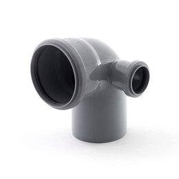 Канализационные трубы и фитинги - Отвод канализационный 110/50 угол 87 правый РосТурПласт, 0