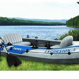 Надувные, разборные и гребные суда - Надувная лодка excursion 4 set intex 68324, 0