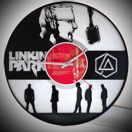 Часы настенные - Часы из виниловых пластинок Linkin Park / Линкин Парк, 0