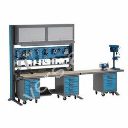 Мебель для учреждений - Рабочее место KronVuz Pro WP 5010Р2-Т2С1-LSRV-TB577, 0