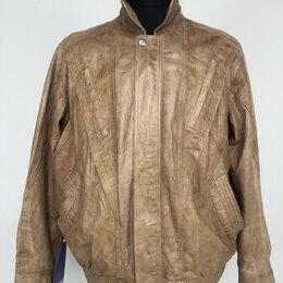Куртки - Куртка мужская натуральная кожа цв.Бежевый р.50-52 /11008/, 0