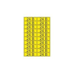 Интерьерные наклейки - Наклейка знак электробезопасности «24 В» 15х50…, 0