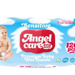 Влажные салфетки - Влажные салфетки детские с крышкой 120 шт для чувствительной кожи ANGEL CARE ..., 0