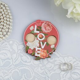 """Свадебные украшения - Подставка для колец """"Любовь"""", 10х10 см, 0"""