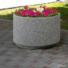 Садовые фигуры и цветочницы - Вазон бетонный Степ, 0