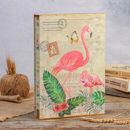 """Скрапбукинг - Фотоальбом магнитный 20 листов """"Фламинго"""" в коробке МИКС 33,5х23,5х5,5 см, 0"""