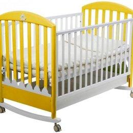 Кроватки - Детская кроватка папалони с новым матрасом , 0