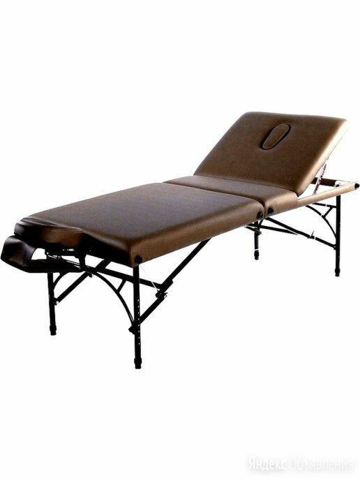 Складной массажный стол / Массажная кушетка/Стол для массажа  коричневый по цене 35370₽ - Массажные столы и стулья, фото 0