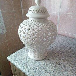 Вазы - Керамическая ваза с крышкой, 0