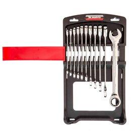Рожковые, накидные, комбинированные ключи - Набор ключей комбинированных, трещоточных 11 шт. Matrix, 0