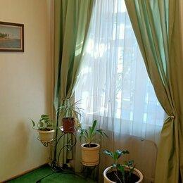 Шторы - Зеленые шторы в спальню с карнизом, 0