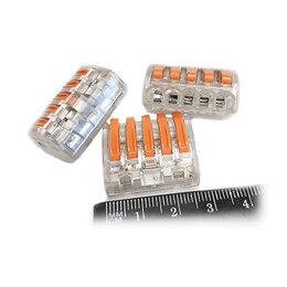 Товары для электромонтажа - Коннектор для проводов (клеммник), прозрачный, 0