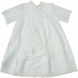 Крестильная одежда - Крестильный набор для девочки Папитто (платье/косынка, размер 20, рост 56-62 см), 0
