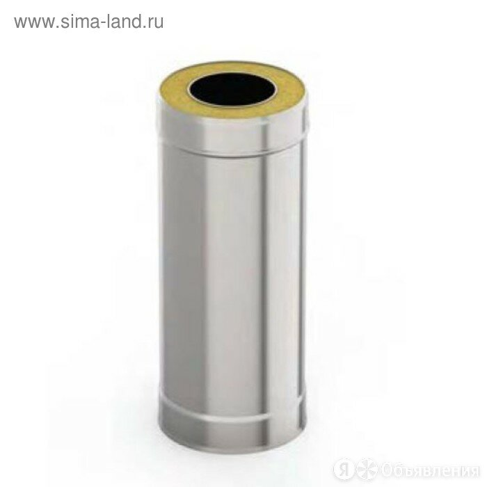 Сэндвич-труба 0.5 м, d 130 × 200 мм, нерж/нерж, 1.0 мм/0.5 мм по цене 3051₽ - Дымоходы, фото 0