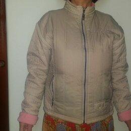 Куртки - Куртка двухсторонняя непромокаемая на флисе р46-48, 0