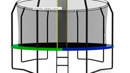 Каркасные батуты - Каркасный батут SWOLLEN Prime Black 14 FT новые, 0