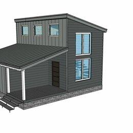 Готовые строения - Проект каркасного дома-бани 8*8, с верандой, 0