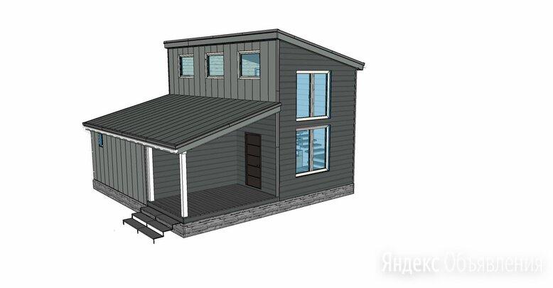 Проект каркасного дома-бани 8*8, с верандой по цене 12000₽ - Готовые строения, фото 0