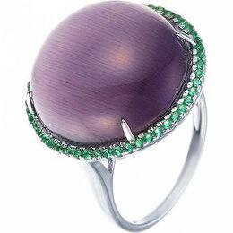 Комплекты - Element47 кольцо серебро вес 6,25 вставка фианит, кошачий глаз арт. 743679, 0