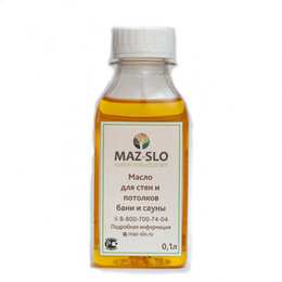 Масла и воск - Масло для стен и потолков в бане и сауне MAZ-SLO 8065926, 0