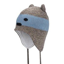 Головные уборы - Зимняя детская шапка Satila Bearly (коричневая), 0