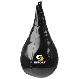 Тренировочные снаряды - Груша боксерская EFFORT MASTER, на ленте ременной, (тент), средняя, 45 см, d ..., 0