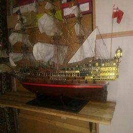 Модели - Модель корабля 17 века.ручная работа.длина 1 м высота 90см., 0