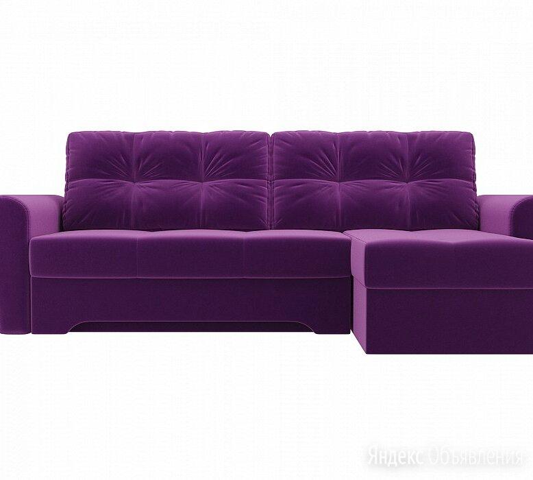 Диван угловой  Амстердам правый Микровельвет Фиолетовый по цене 28790₽ - Диваны и кушетки, фото 0