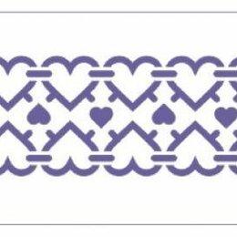 Тротуарная плитка, бордюр - Трафарет 10*25см,Бордюр Сердца 13746567, 0