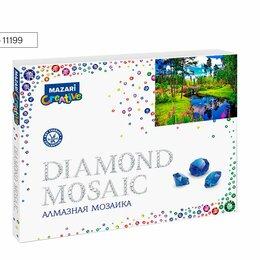 Рукоделие, поделки и сопутствующие товары - Мозаика алмазная по номерам 40*50 М-11199 РЕКА В ЛЕСУ, 0