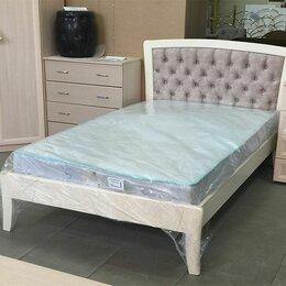 Кровати - Кровать полуторка массив бука, 0