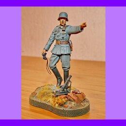 Сборные модели - 1/16 Модель Немецкий офицер с минометом миниатюра, 0