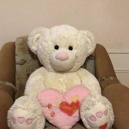 Мягкие игрушки - Большой плюшевый медведь с сердцем, 0